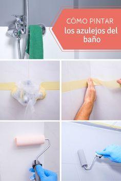 Cómo pintar los azulejos del baño ➜¿Baño aburrido? NUNCA MÁS. Aprende cómo pintar los azulejos del baño, renuévalos y dales un poco de color.   #DIY #Tutorial #Handfie #Baño #Pintura #Azulejos