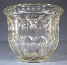♦Vintage art deco depression glass vase Crown Crystal 'Double Lozenge'♦