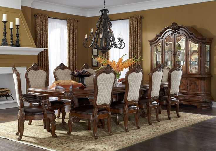 11 Piece AICO Tuscano Melange Rectangular Dining Set & 25+ best Dining Tables images on Pinterest | Table settings Dining ...