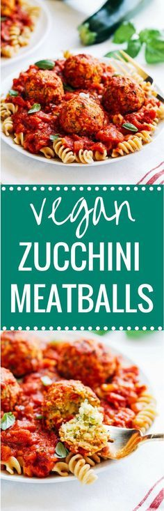 Vegan Zucchini 'Meatballs' - less than 10 ingredients and 20 minutes to make! Each serving offers 25 grams of plant-based protein! (vegan + gluten-free) (Gluten Free Recipes Sides)