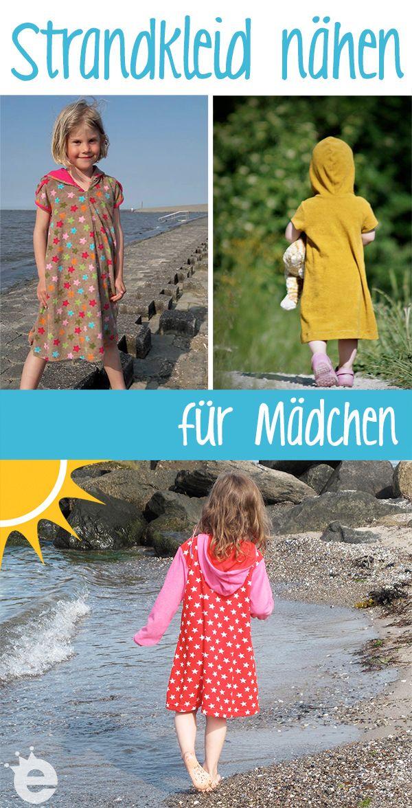 Strandkleider selber nähen! Tolle Schnittmuster für kuschelige Badekleider für Mädchen