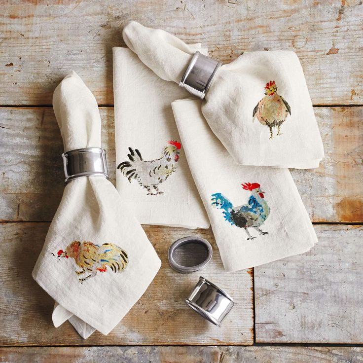 Jacques Pépin Collection Orted Ens Linen Napkins Set Of 4