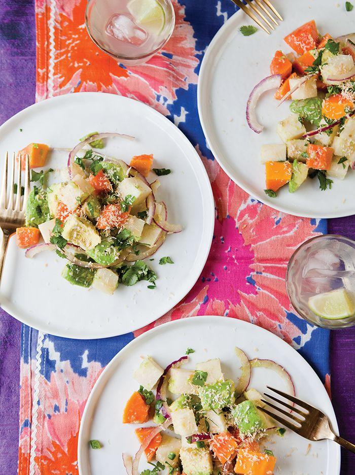"Avocado, Papaya, and Jicama Salad from ""A Mouthful of Stars"" by Kim..."
