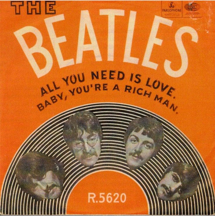 The Beatles - All You Need Is Love can use different vinyl covers for the table settings