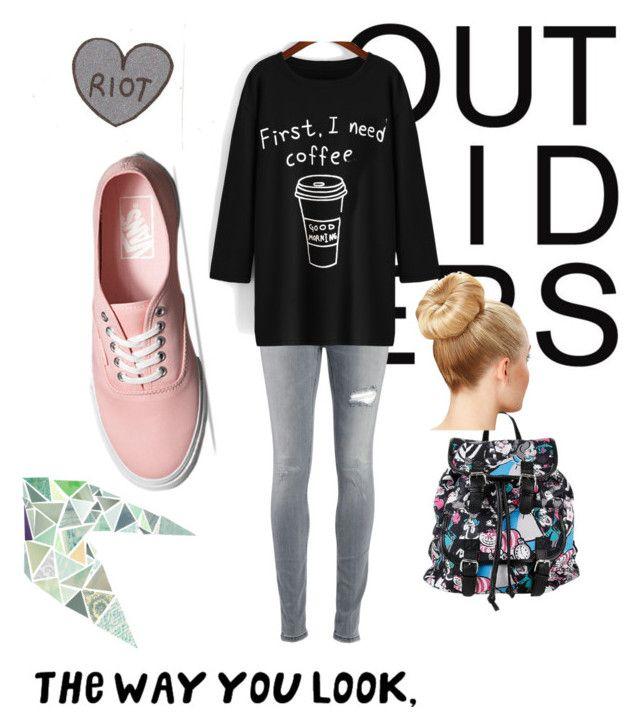 """""""School day"""" by raque-santacruzv on Polyvore featuring moda, Vans, Disney y Dondup"""