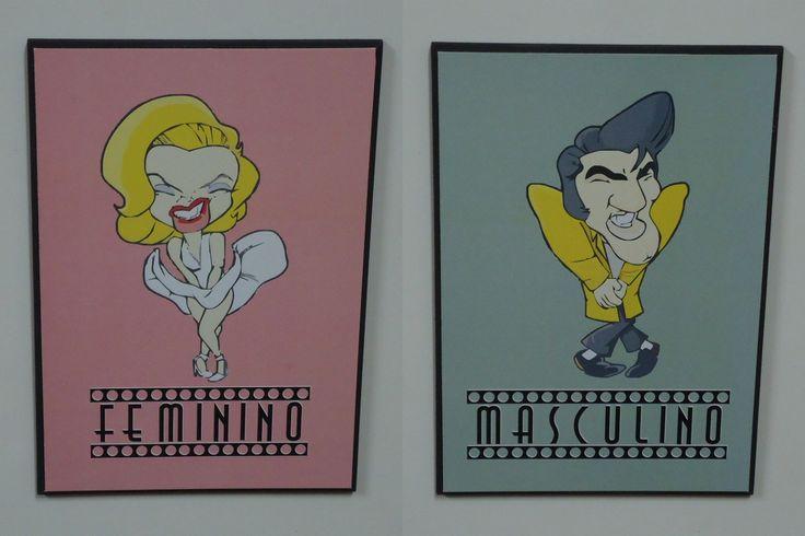 placa banheiro masculino e feminino (par) frete grátis  Placa de banheiro   -> Sinalizacao Banheiro Feminino E Masculino