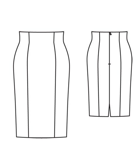 I <3 this skirt.  Burda Princess Seam Pencil Skirt 04/2012
