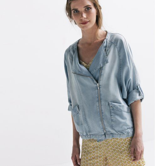 Giacca in jeans chambray