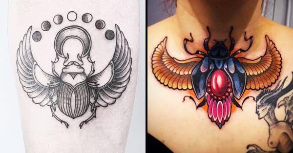 15 Sacred Scarab Tattoos