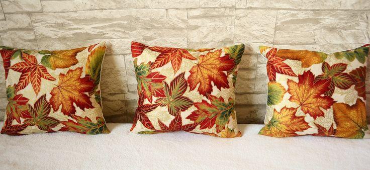 podzimní mini polštářky do ložnice nebo na pohovku
