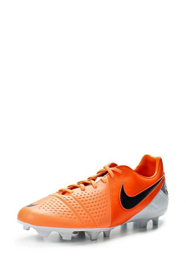 Бутсы Nike / Найк мужские. Цвет: оранжевый. Материал: искусственная кожа. Сезон: Весна-лето 2014. С бесплатной доставкой и примеркой на Lamoda. http://j.mp/1pDCeU3