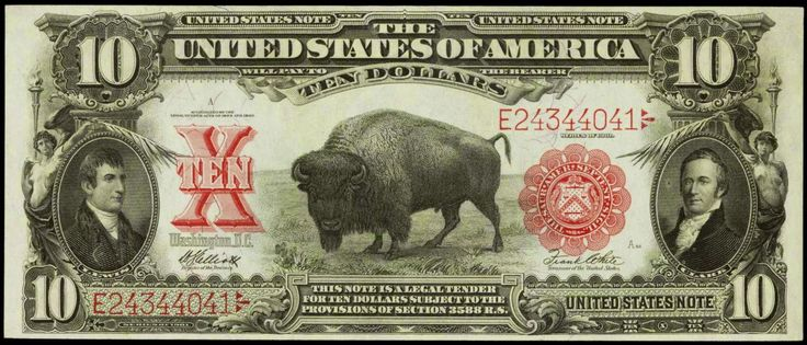 10 Bison Note Series Of 1901 Currency Pinterest