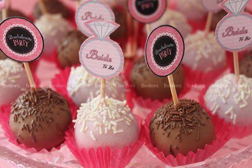 Bachelorette Party Cake Balls