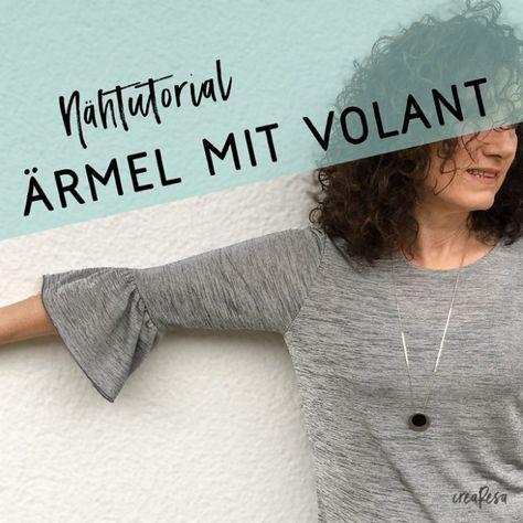 Ärmel mit Volant nähen – Andrea Bremer