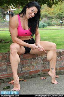 Gabby Chester Muscle Women Body Building Women Calf