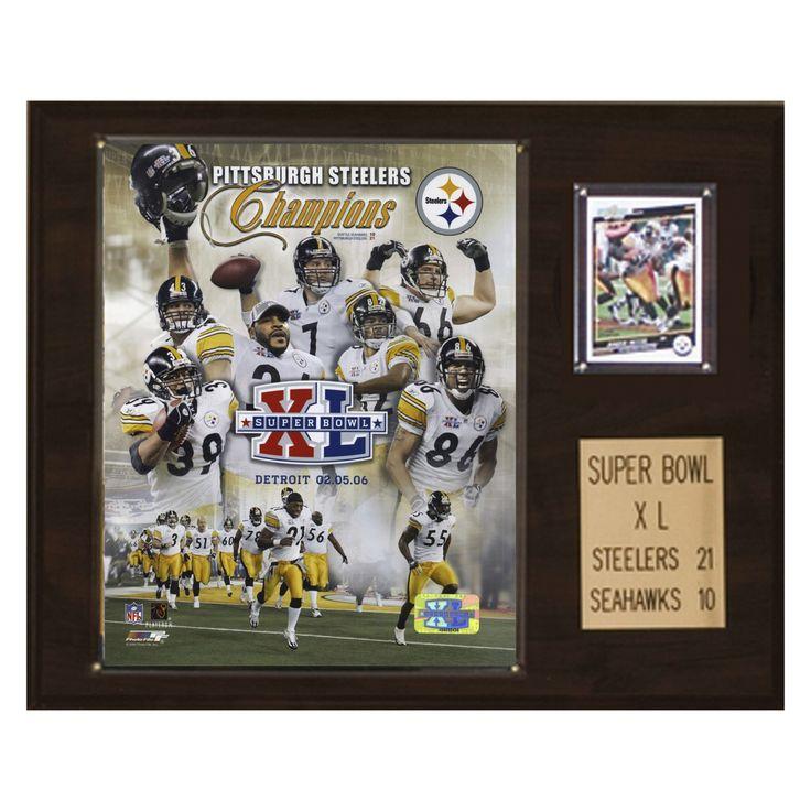 NFL 12 x 15 in. Steelers Super Bowl XL Champions Plaque - 1215SB40