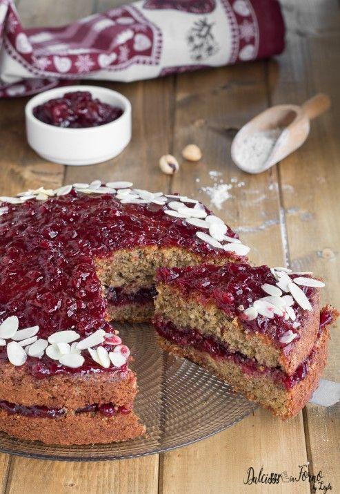 Torta con grano saraceno e mirtilli rossi, ricetta dell'Alto Adige Dulcisss in forno by Leyla