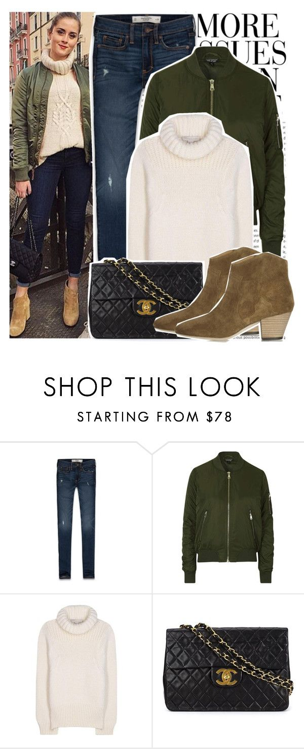 """#1203 Celebrity Style:  Valentina Ferragni"" by valucarrots ❤ liked on Polyvore featuring Wassup, Abercrombie & Fitch, Topshop, STELLA McCARTNEY, Chanel, Isabel Marant, women's clothing, women, female and woman"