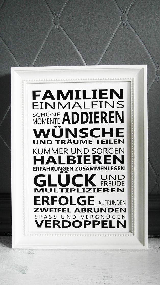 FINE ART Druck FAMILIEN 1x1 Kunstdruck Print