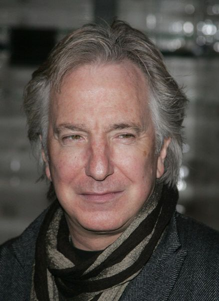 Alan Rickman arrives for the charity performance of 'Motherland' at The Young Vic theatre on March 2, 2008 in London, England.