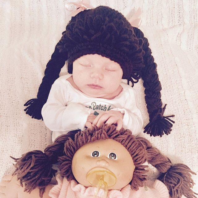 """Ok...I cannot handle this cuteness!!! <3 So adorable! Customer photo by Ginger Keever   """"Absolutely adorable! The craftsmanship and quality are excellent! The newborn size fit on my five week old daughter's head perfectly. And I actually think she didn't mind wearing it at all. It kept her head nice and warm for Halloween. Thanks again! Incredibly talented seller!"""""""