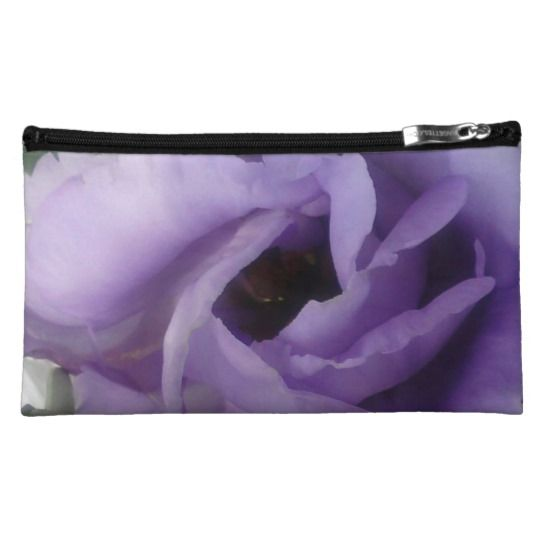 #zazzle #girl  #woman #gift  #giftidea  #Purple #Flower #Sueded #Medium #Cosmetic #Bag