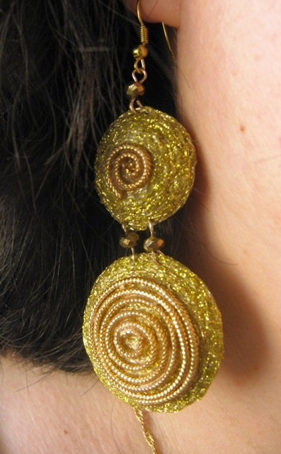 Spiral earrings -Sardinian jewelry