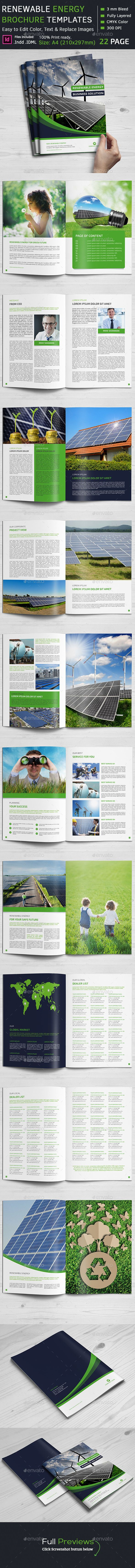 Renewable Energy Brochure Template #design Download: http://graphicriver.net/item/renewable-energy-brochure/12165777?ref=ksioks