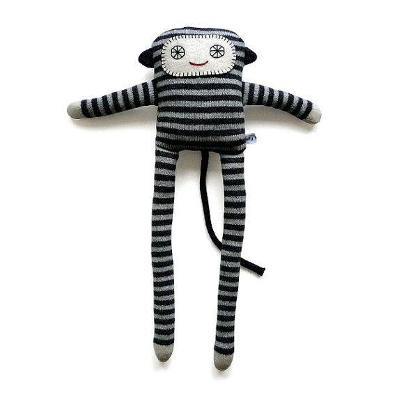 Lambswool Monkey by SallyNencini on Etsy
