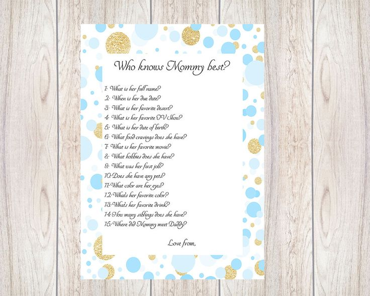 Who Knows Mom Best, Gold Glitter,Baby Shower Ideas,Printable,Baby Shower  Games,Mummy,Mommy,Spots Gold, Baby Shower,Boy,Baby Shower,Blue