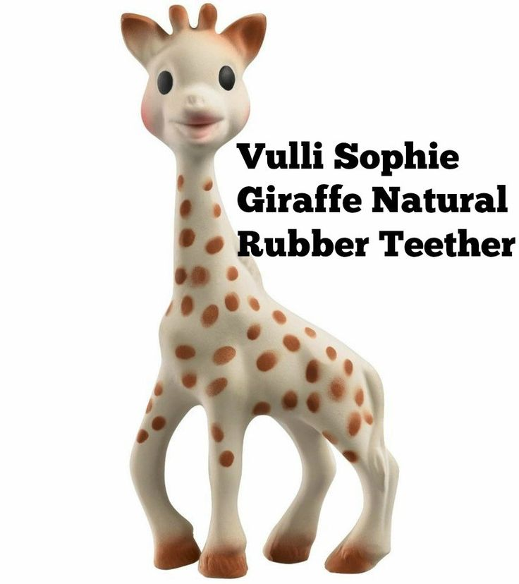 Vulli Sophie Giraffe Natural Rubber Teether   It can be hard to find baby teething toys for sore gums but the one I would personally recommend is the Vulli Sophie Giraffe Natural Rubber Teethe…