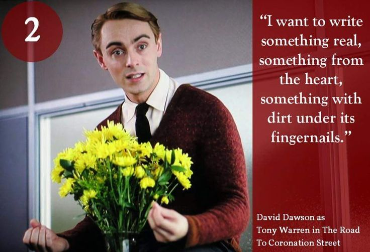 Day 2 of our #DavidDawson advent calendar...David as Tony Warren in 'The Road to Coronation Street'