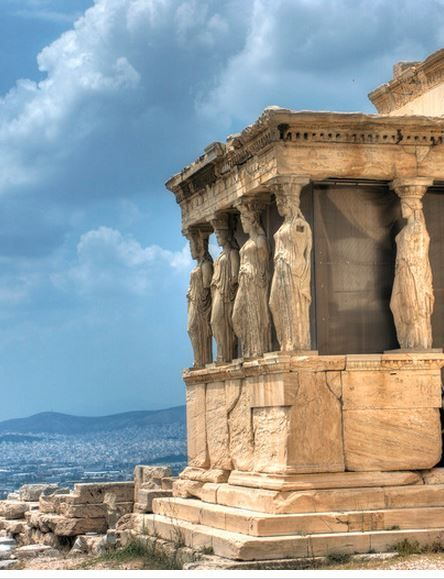 The porch of the Caryatids on top of the Acropolis in Greece just may be the oldest porch in the World.