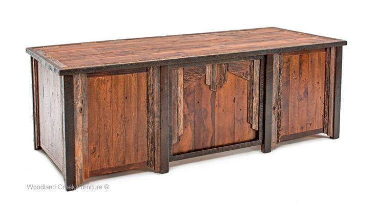 Reclaimed Barn Wood Desk Barnwood Furniture Pinterest