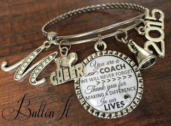 Coach gift, Team gift, CHEER coach, volleyball coach, soccer coach, Softball coach, Sports BRACELET, coach quote, inspirational