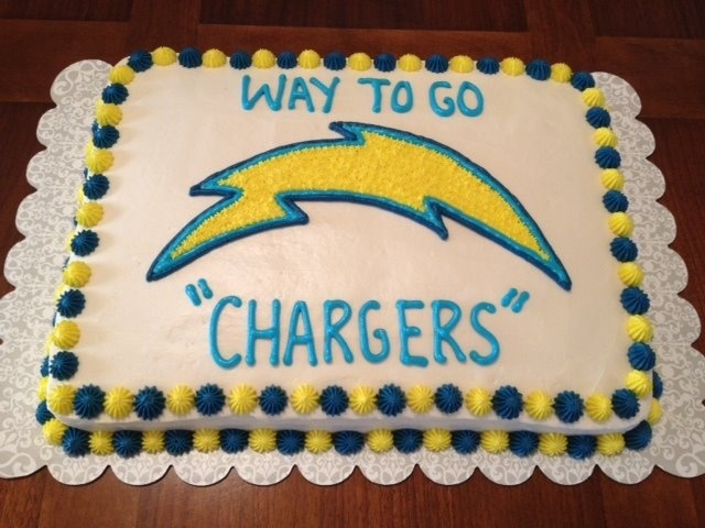 San Diego Chargers Cake Art Pinterest San Diego