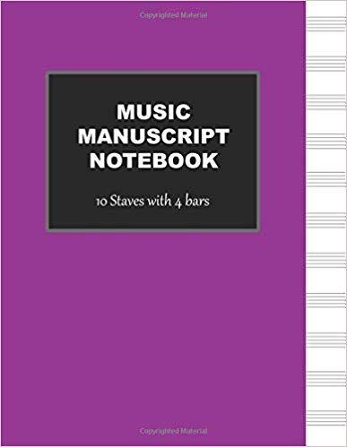 Amazon com: Manuscript Notebook: 10 Stave Blank Sheet Music