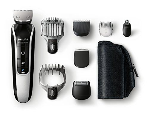 Philips – QG3371/16 – Multigroom Séries 5000 – Tondeuse Multi-Styles – 8 en 1: Peaufinez votre look avec nos tondeuses visage, cheveux, cou…