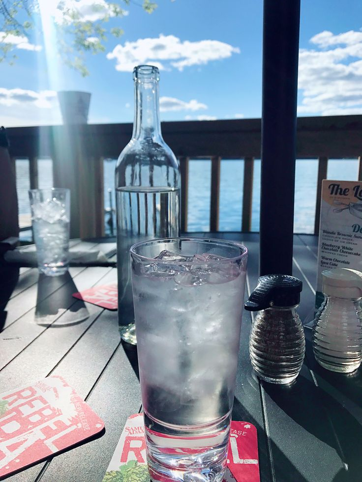 Beautiful view with ice water.