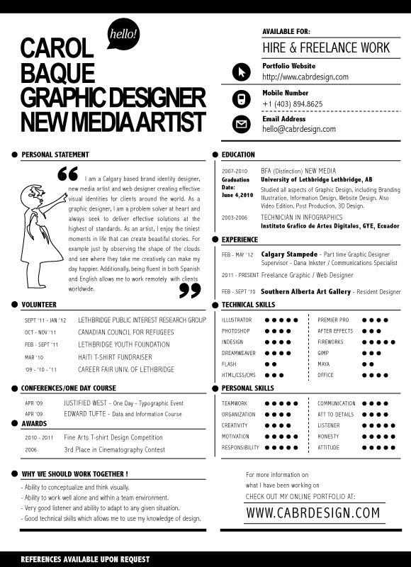 Web Designer Cv Pdf Resume Jpg 580 800 Viva La Vita Pinterest