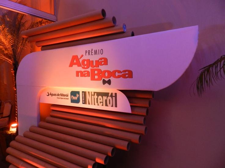 Totem de entrada - Prêmio Água na Boca Niterói 2013