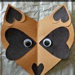 Paper Heart Raccoon Craft For Kids