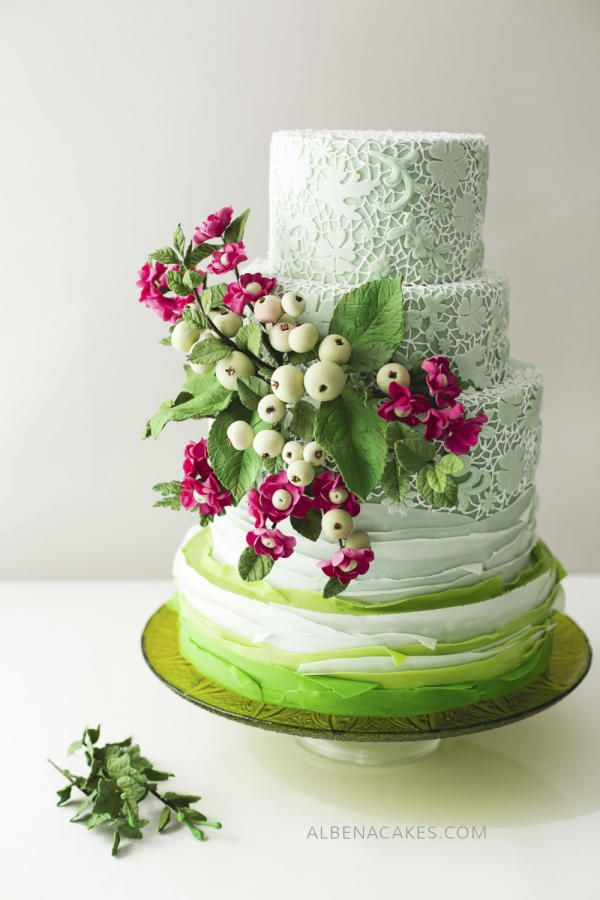 #6 Wedding Cake inspired by Enchanted Garden - Cake by Albena