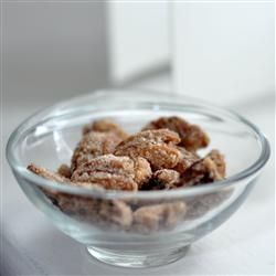 These are super easy and super delicious - a great fall flavor.  Sugar Coated Pecans Allrecipes.com  Pecans are always part of my holiday table - full of memories!