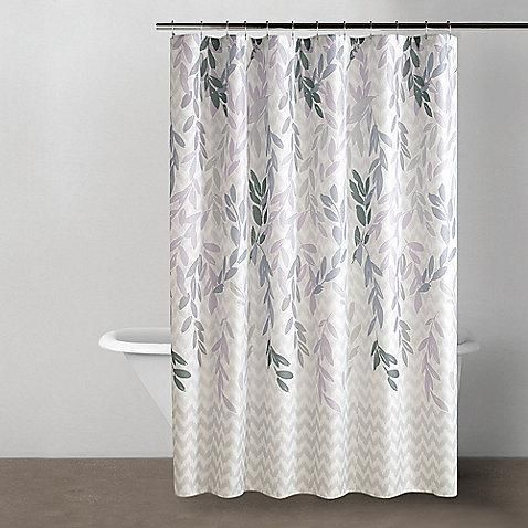 purple and grey shower curtain. Foliage of varying shades soft purple and gray on a snowy white  background bring Gray Shower CurtainsHall 56 best curtains images Pinterest Purple shower