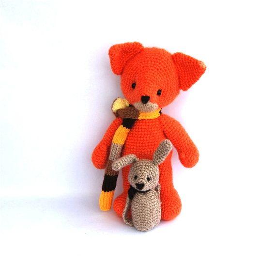 peluche fox toy, amigurumi orange animal, bois jouet bonneterie pour enfants, poupée de peluche, crochet renard, renard orange sur Etsy, $55.86 CAD