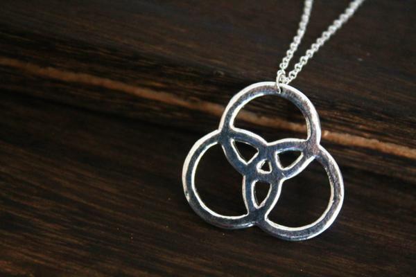 silver Led Zeppelin Symbols Pendant necklace