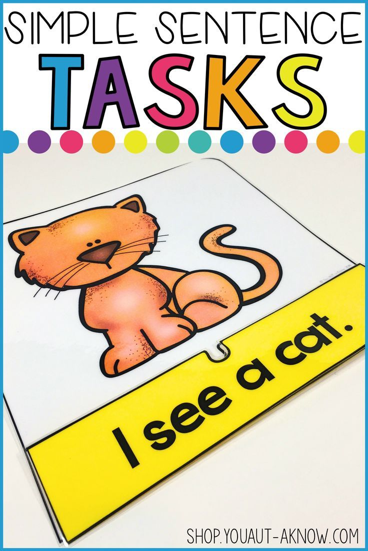 This work system task is great for emerging readers. With a combination of preprimer sight words and CVC words, students match sentences to pictures. This is a favorite task in my Special Education classroom.