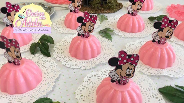 Como hacer gelatinas de Minnie Mouse individuales