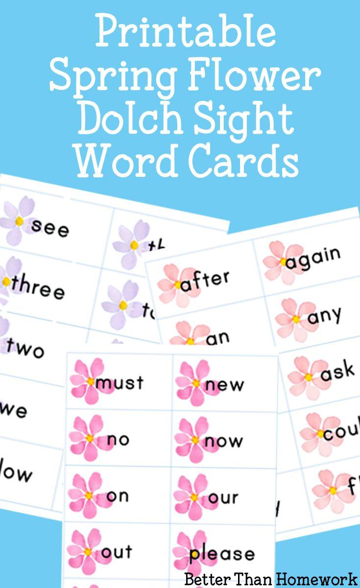 Printable Spring Flower Sight Words   Reading & Writing Fun ...